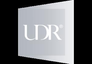U D R logo.